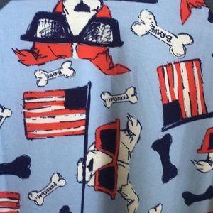 LulaRoe Randy - S - American Flag Dogs